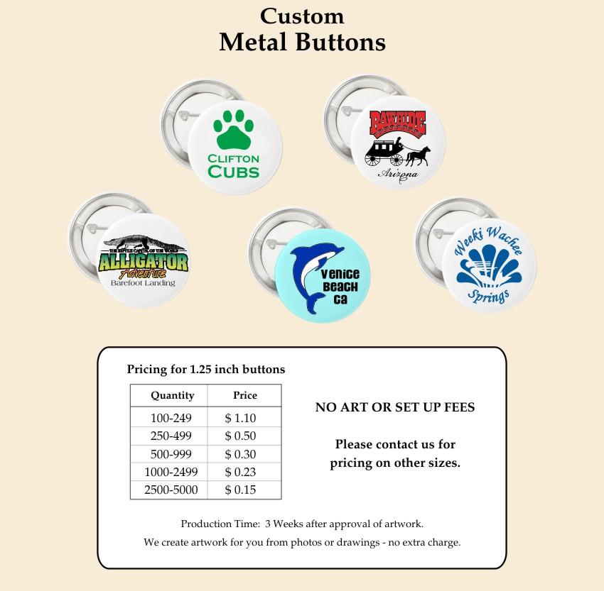 Metal Button Badges